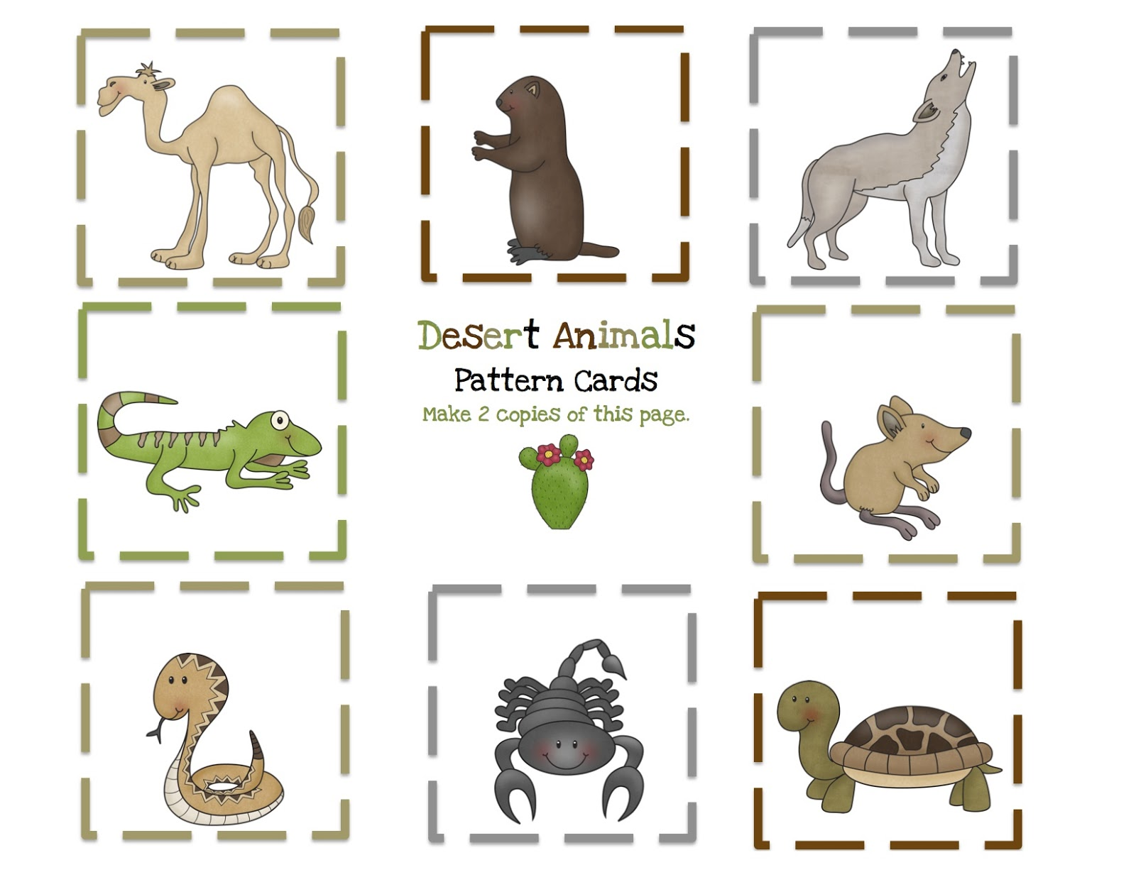 Desert Animals Printable Preschool Printables
