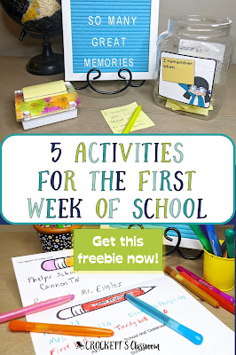 5 Activities for a Positive First Week of School