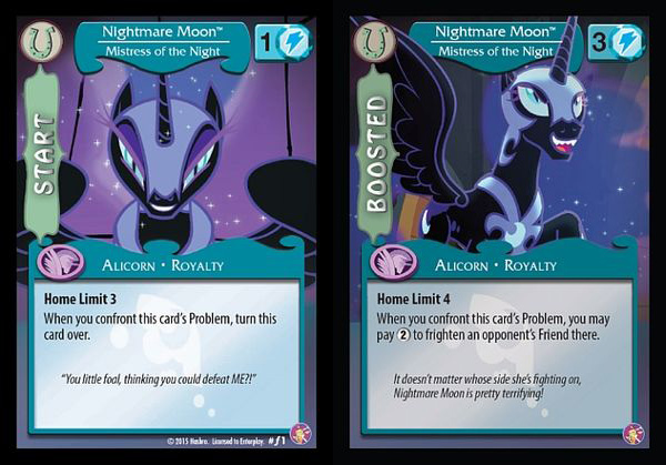 MLP Nightmare Moon Mistress Of The Night CCG Cards MLP