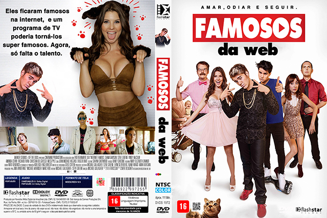 Famosos da Web (2016) DVD-R Custom