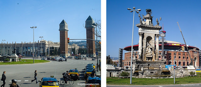 Plaça d'Espanya e as Arenas de Barcelona