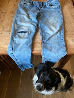 spijkerbroek kapotte knie maken