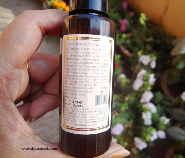 Kama Ayurdeva Pure Rose Water