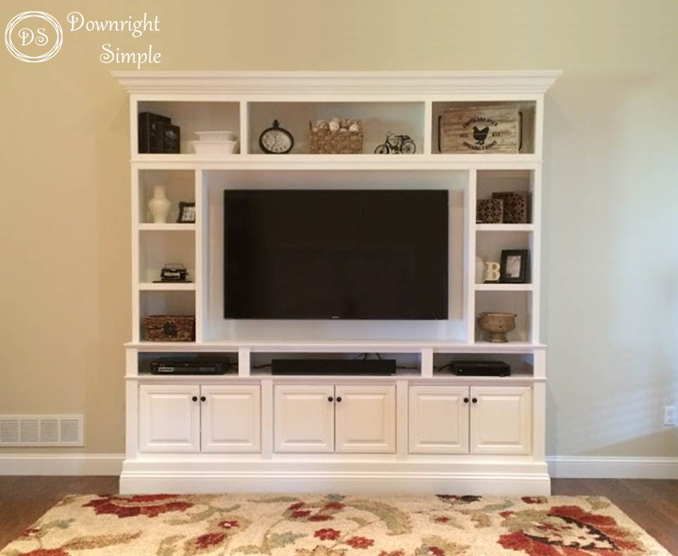 Downright Simple Diy Tv Built In Wall Unit