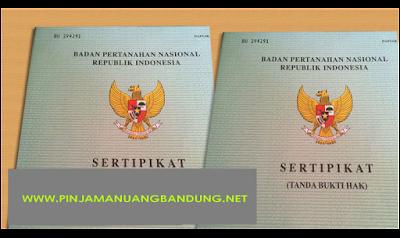 Gadai Sertifikat Rumah Tanpa Bi Checking di Bandung