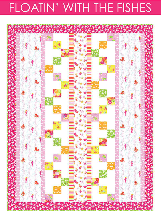 http://www.michaelmillerfabrics.com/inspiration/freequiltpatterns/floatin-with-the-fishes.html
