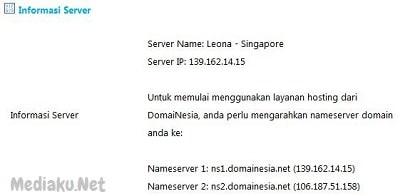 Nama NS (Nameserver) DomaiNesia