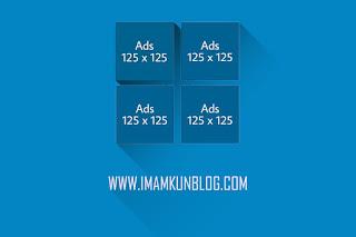Cara Membuat Kotak Iklan Banner Ukuran 125x125 di Blog