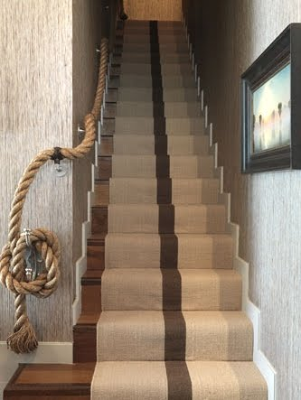 rope stair railing ideas for nautical style decor