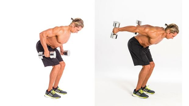 2B Triceps kick-back