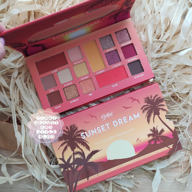 Detail Cosmetics Sunset Dream Palette Review - Bright Eyeshadow by Detail Makeover
