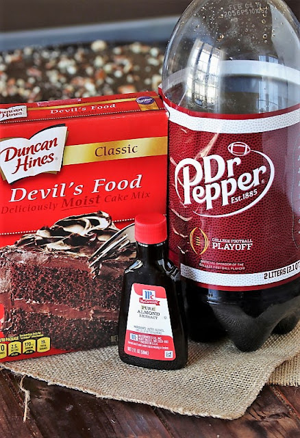 Ingredients to Make Dr. Pepper Chocolate Cake Image