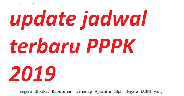 update jadwal terbaru PPPK 2019