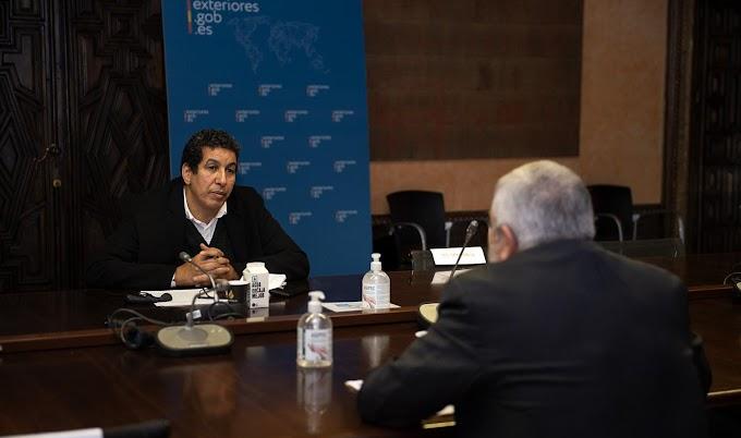 """الوضع في الصحراء الغربية وزيادة الدعم الاجتماعي للشعب الصحراوي"""" محور لقاء بين ممثل البوليساريو بإسبانيا ومدير وكالة التعاون الإسبانية"""