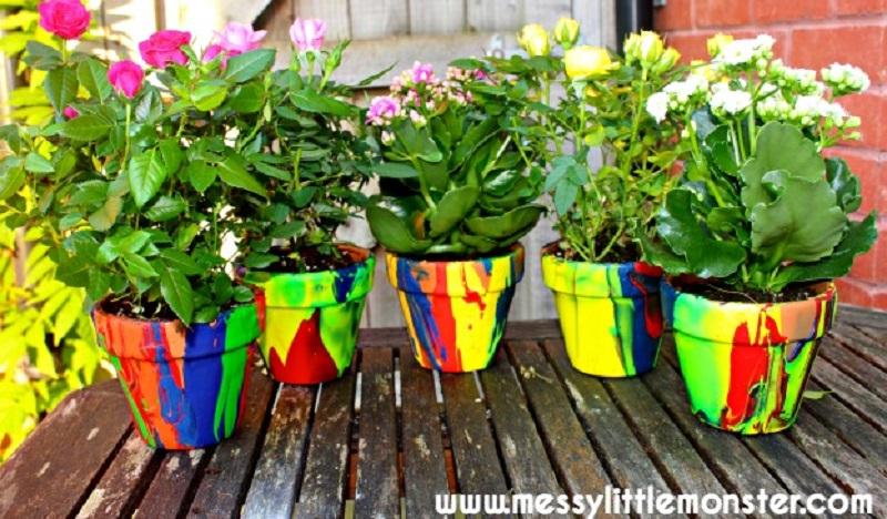 paint poured pots