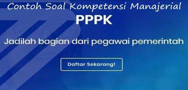 contoh soal kompetensi manajerial pppk