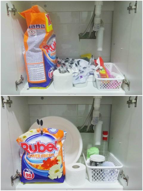 Organizacija prostora ispod umivaonika u kupaonici