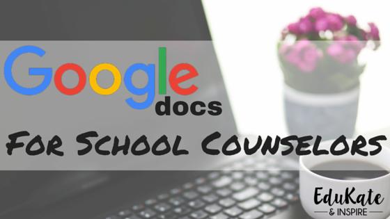 Free Google Docs for School Counselor Organization