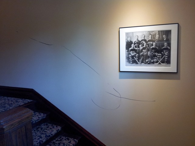 vandalism in our stairway