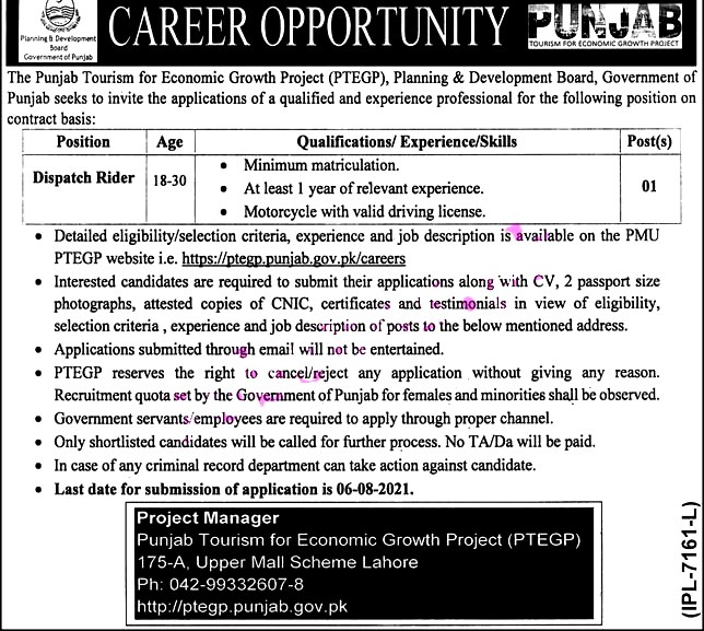 Latest Jobs in Planning and Development Board Punjab 2021