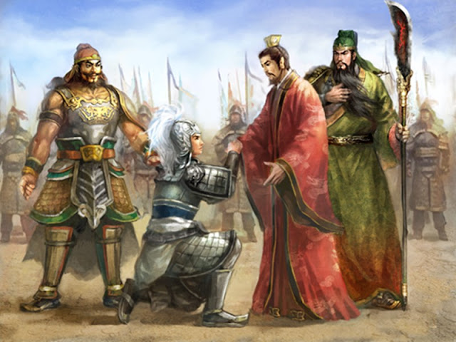 Chapter 28 : Putting Cai Yang To Death, The Brothers' Doubts Disappear; Meeting At Gucheng, Lord and Lieges Fortify Each Other.