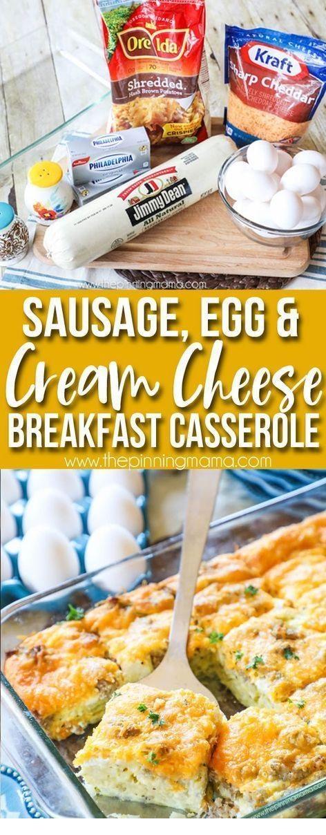Sausage, Egg & Cream Cheese Breakfast Casserole Recipe