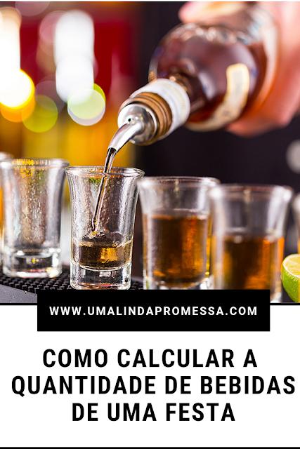 Como calcular a quantidade de bebidas para uma festa