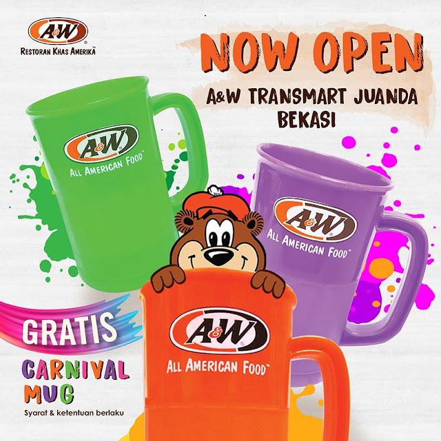 #A&W - #Promo Opening di Transmart Juanda Bekasi - Gratis Carnival Mug