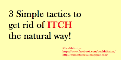 3 Simple tactics to get rid of itch the natural way!