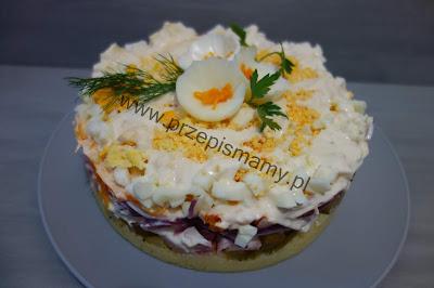 Sałatka tort warzywny