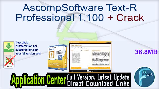 AscompSoftware Text-R Professional 1.100 + Crack