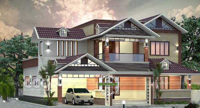 Diseño moderno de una villa residencial
