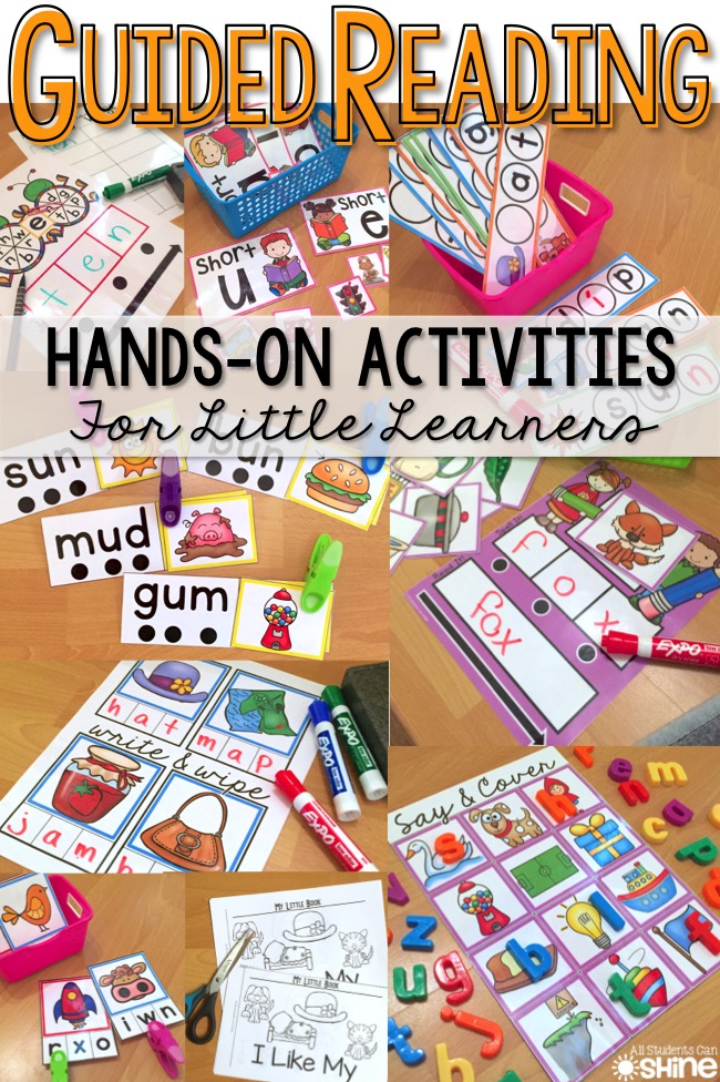 Classroom Literacy Ideas ~ Guided reading activities all students can shine