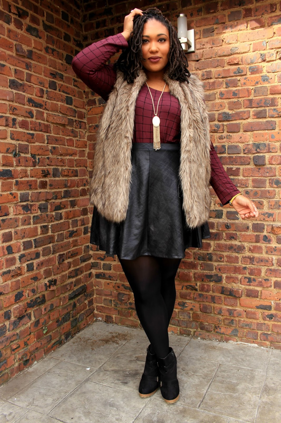 how to style faux fur vest pt. 3 | curvy fashion