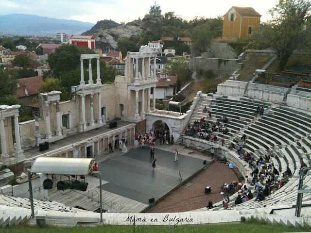 anfiteatro romano de Plovdiv, Bulgaria, Mamá en Bulgaria, turismo
