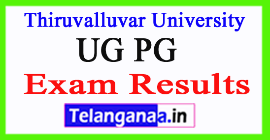 Thiruvalluvar University Exam Results 2018