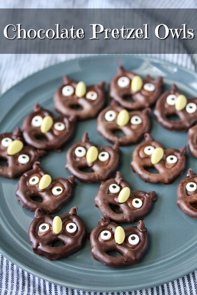 Chocolate covered Pretzel Owls