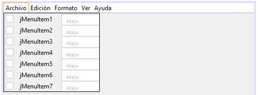 JMenuItem Java NetBeans