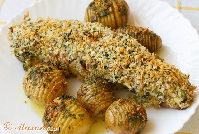 Свиная вырезка с травяной корочкой и картофель «Хассельбак». Скандинавская кухня