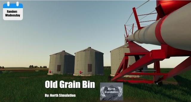 FS19 Old Grain Bin v1.0