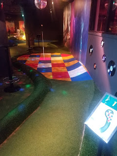Minigolf at O'Learys sports bar in Norrtull, Stockholm by PJ Goedhals May 2019