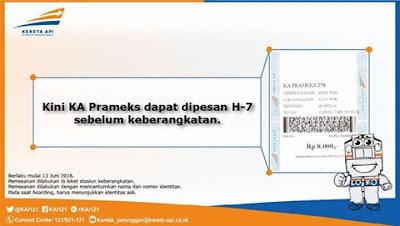 Tiket KA Prameks Bisa Dipesan H-7 Sebelum Keberangkatan