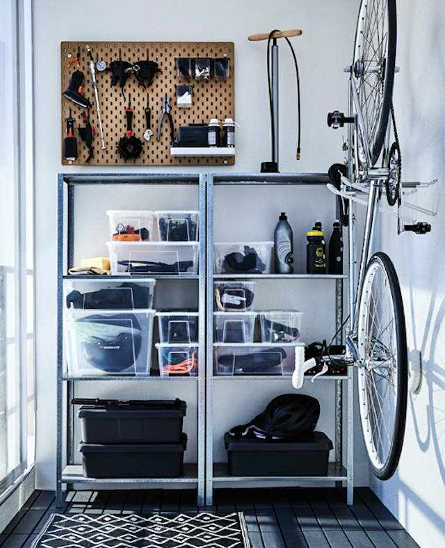 balcón con almacenaje para hobbies