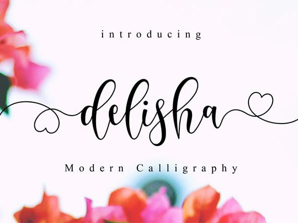 Delisha Feminine Font Free Download