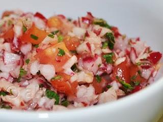 Picado de Rabano or Chopped Radish Salad