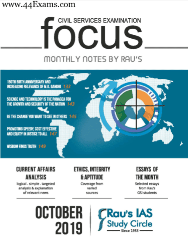 Focus-Monthly-Notes-October-2019-by-RAUS-For-UPSC-Exam-PDF-Book