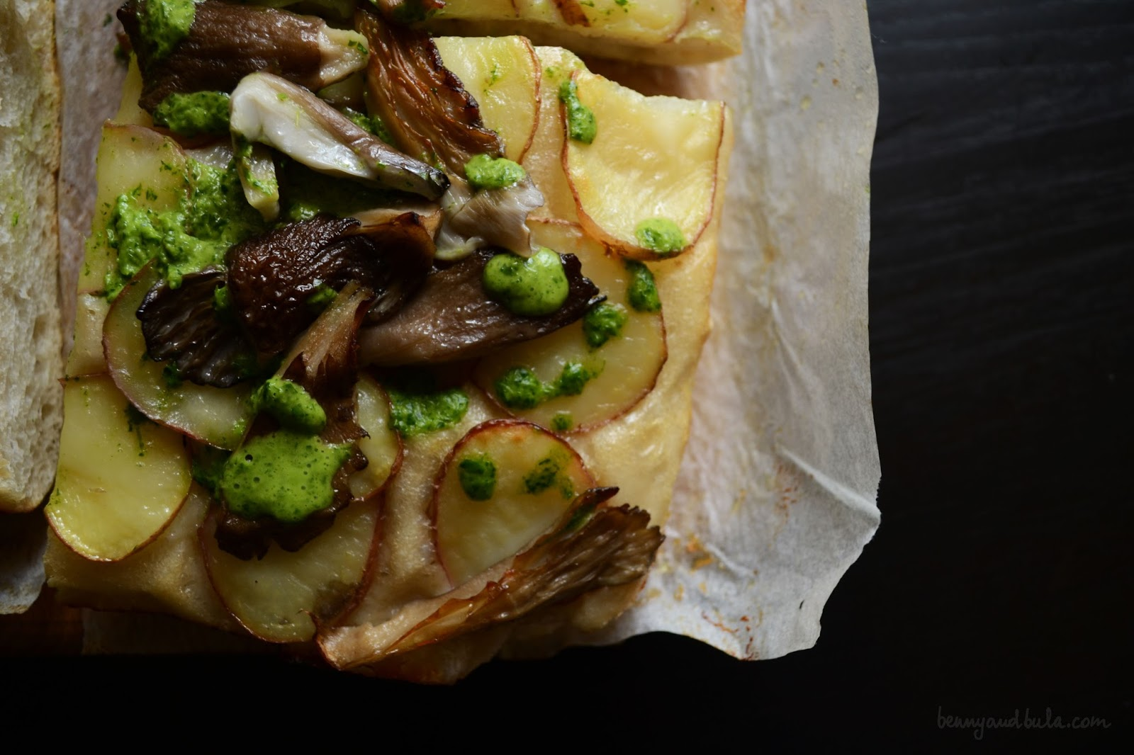 ricetta focaccia patate funghi/ mushrooms potatoes pizza recipe