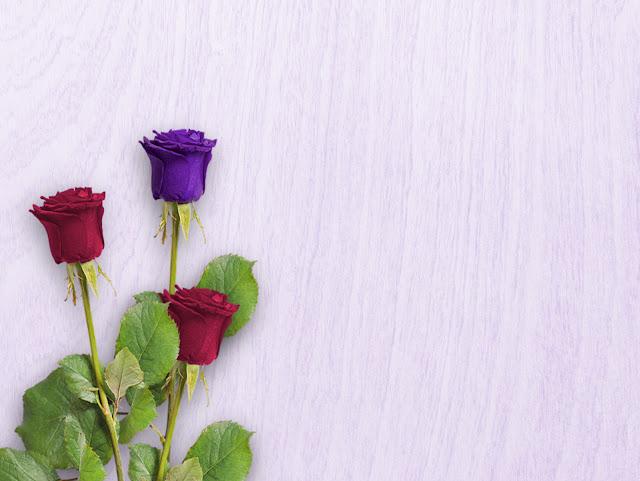 biurko z różami