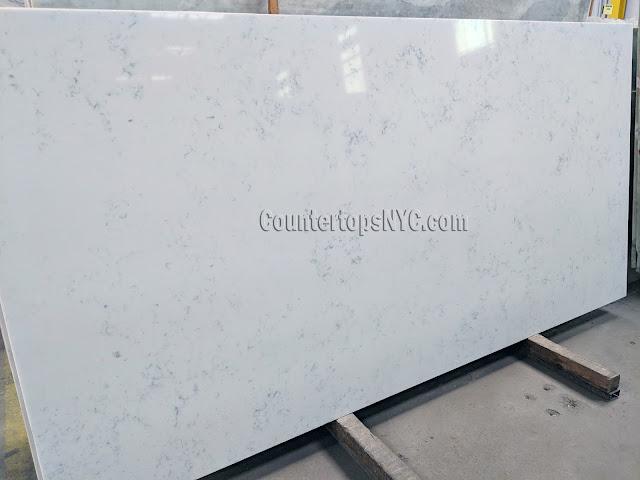 White Carrara Quartz Slab For Sale NYC