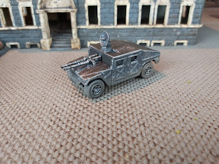 A painted Humvee ready for combat in Gaslands